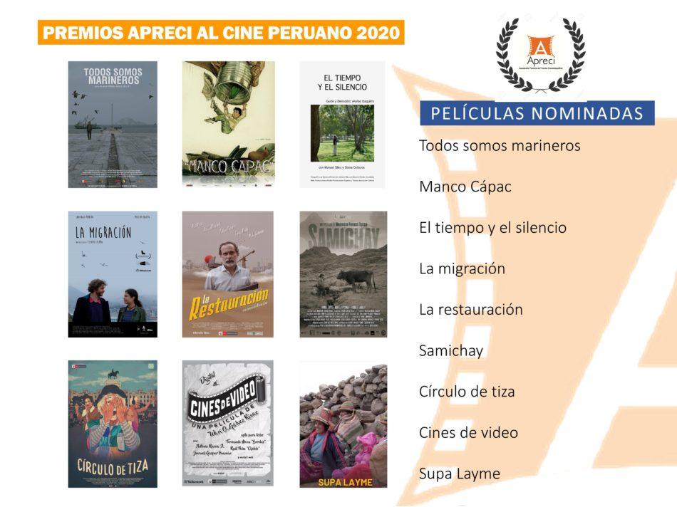 Nominadas premios Apreci 2020